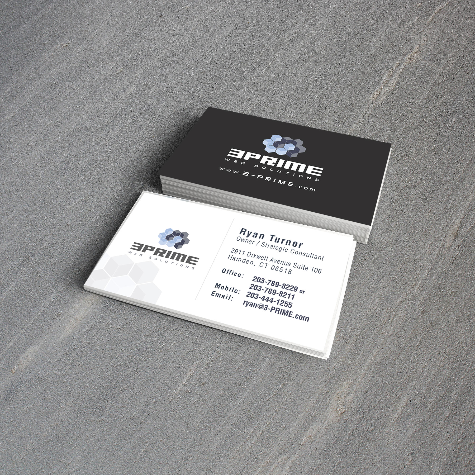 business card design capital house media